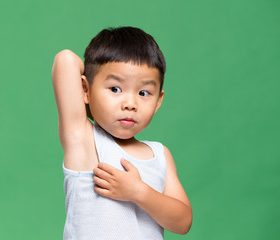 4-year-old Armpit Odor