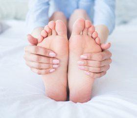 Sweaty foot