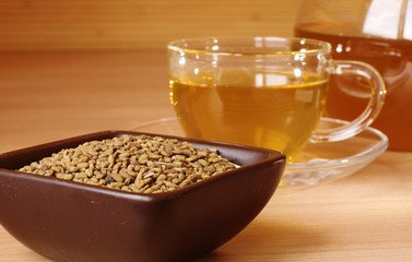 Fenugreek tea for improving body odor